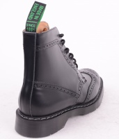 6 Eye Brogue Boot Black 019
