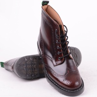 6 Eye Brogue Boot Burgundy 019