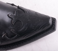 6029L Black Pattern Low Zip Boot