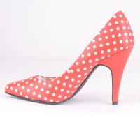 A9071L Diana Red Polka Dot