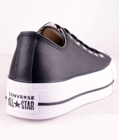 All Star Platå Leather Black OX