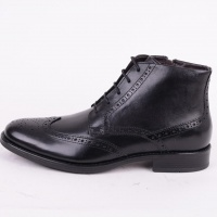 Black Brogue High Zip 5784