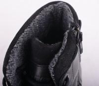 Black Lined Boot Zip