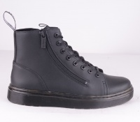 Talib Double Zip Black Leather