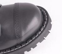 8 Eye Steel Toe Boot Black