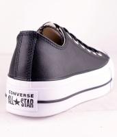 All Star Platå Leather Black OX