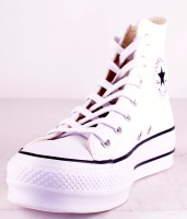 All Stars Platå Leather White HI