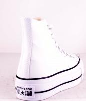 All Stars Platå Leather White HI