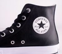 All Star Platå Leather Black HI