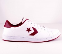 One Star Leather White/Burgundy