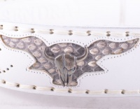 8322 White Python Buckle Belt