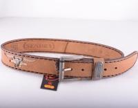 1012 Cream Python Belt