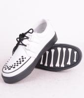 Creeper Sneaker White/Black Leather