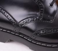 6 Eye Brogue Boot Black 019