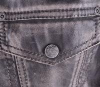 Leather Jacket Vintage Look