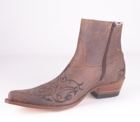 7216 Maraca Brown Zip Boot