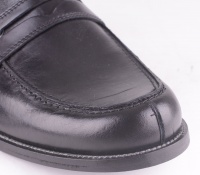 Black Leather Slip Shoe