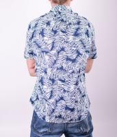 Navy White Palm Shirt