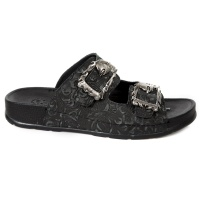 M-BIO21-S1 Black Flower Sandal