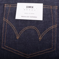 Regular tapered Dark Pure Indigo Raw