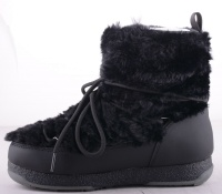 Snowflake Fur Black