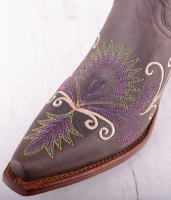 VF3039 Brown Flower Boot