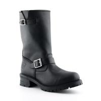 Turbo Black Engineer Boot