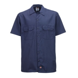S/S Work Shirt Navy 1574