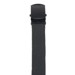 Web Belt, ca. 3 cm, OD green, black metal buckle