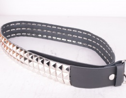 3 Row Pyramid Leather Belt 51mm