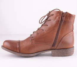 4476-188 Lace Zip Boot Brandy