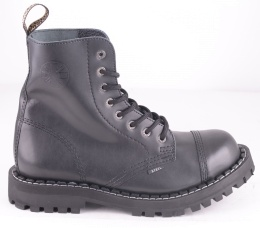 8 Eye Steel Toe Boot Black