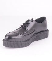 A8533 Black Pointed Creeper Leather