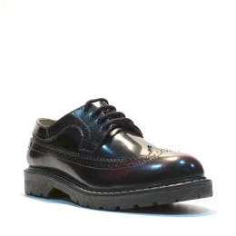 Bertrum Brogue Burgundy Rub-Off