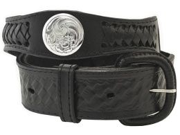 Black Conchos Belt (Removable Buckle)