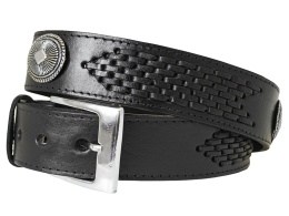 Black Conchos Belt XM163