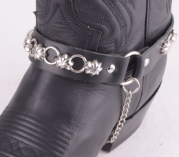 Boot Straps Black Star Studs