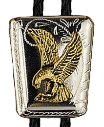 BT-303 Eagle on Shield Silver & 14 kt Gold Plated