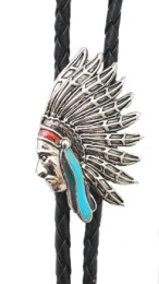 BT-978 Indian Head Bolo Tie Made in the USA