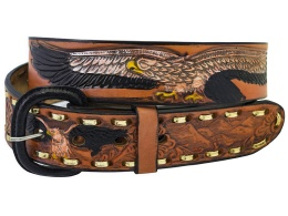 Burned Tan Eagle Belt (removable buckle)