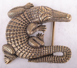 Belt Buckle Crocodile Brass