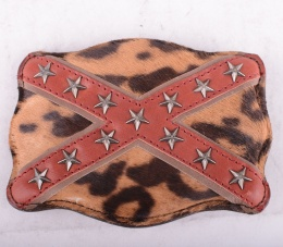 Belt Buckle Leopard Flag