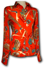 Blouse Paris Orange Woman