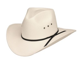 CA-3E Pinch Front White Straw Hat *Elastic