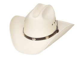 CA-4E Cattle Straw Hat, Silver Conchos *Elastic Band