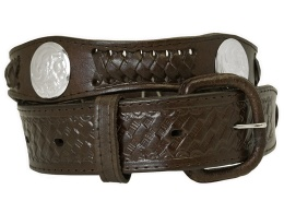 Dark Brown Concho Belt