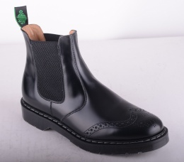 Dealer Boot Brogue Black