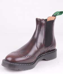 Dealer Boot Brogue Burgundy Rub-Off