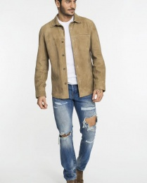 KING 8 Goatsuede Shirt Camel