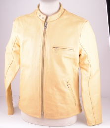 Levi's Leather Rider Jacket Yellow, 1996, Large